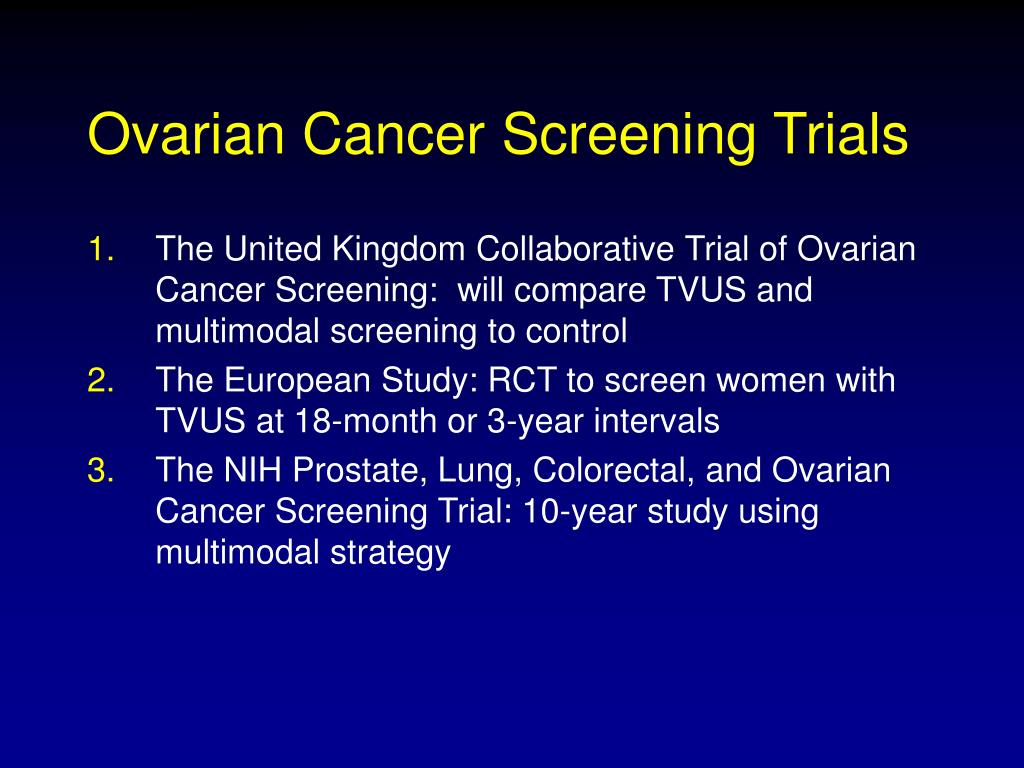 Ppt Ovarian Cancer Screening Powerpoint Presentation Free Download Id 360711
