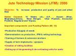jute technology mission jtm 2006