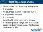 certificate signatures