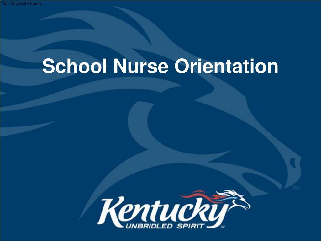school nurse orientation