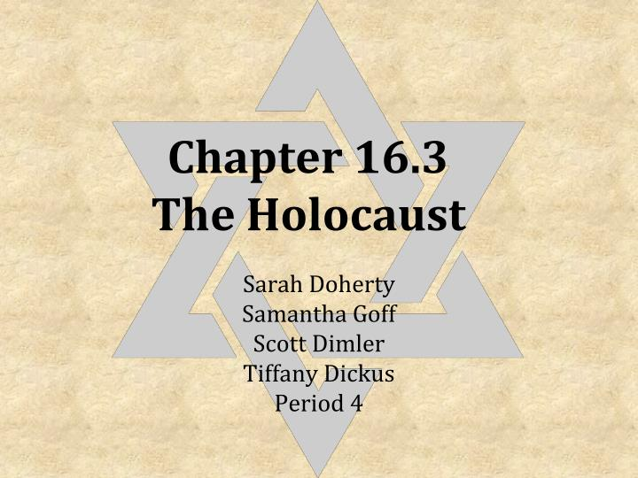 chapter 16 3 the holocaust n.