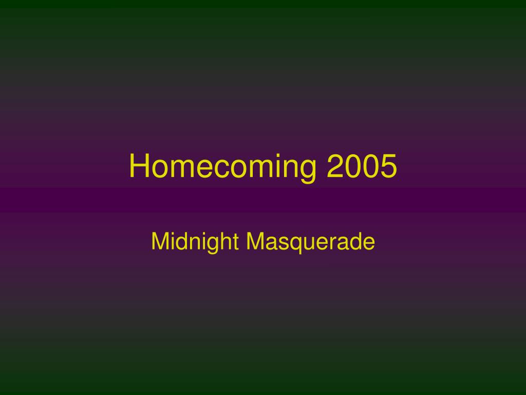 homecoming 2005 l.