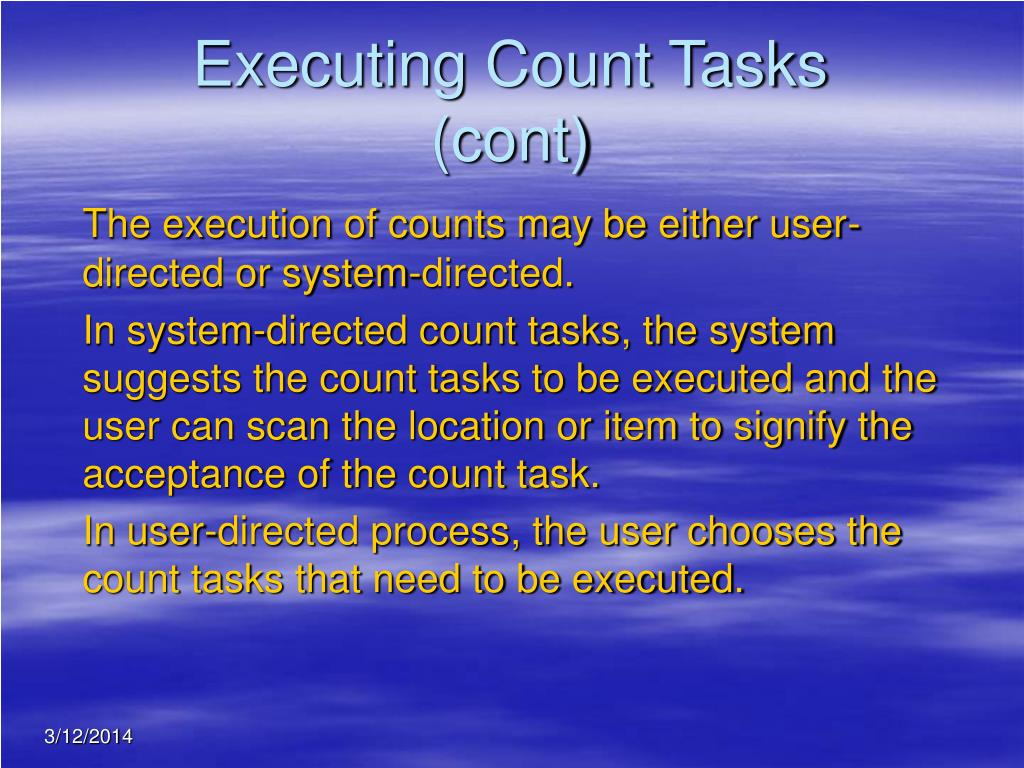 Executing Count Tasks