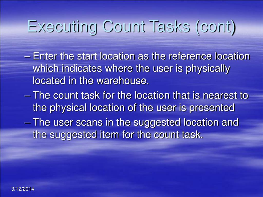 Executing Count Tasks (cont)