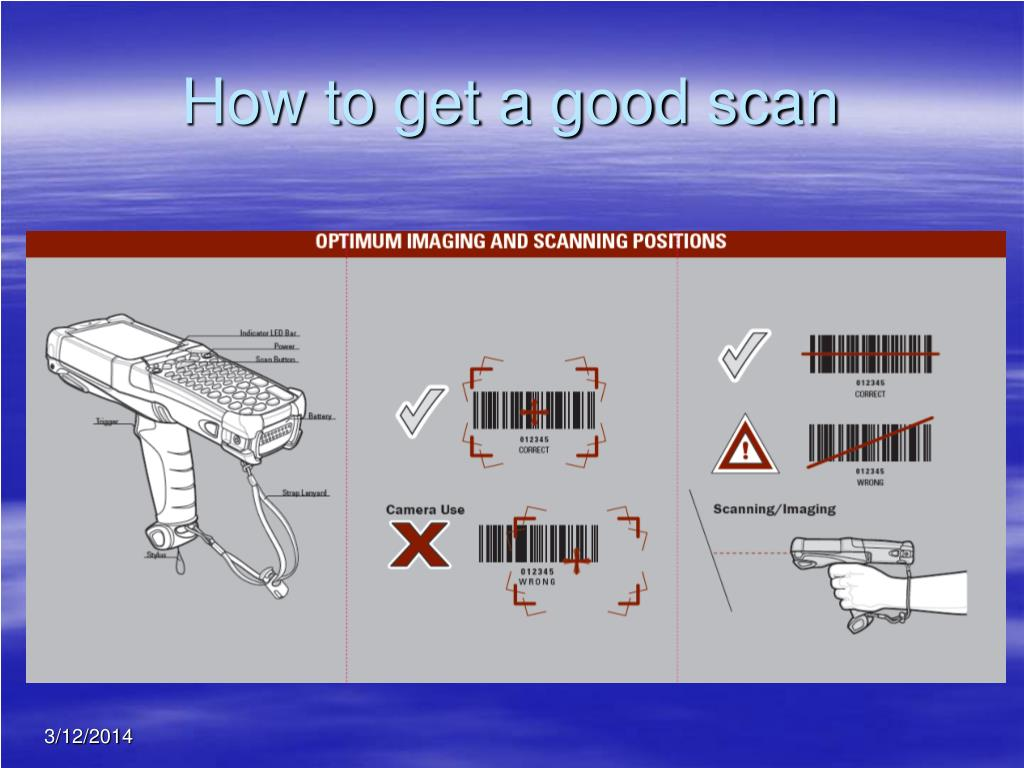 How to get a good scan