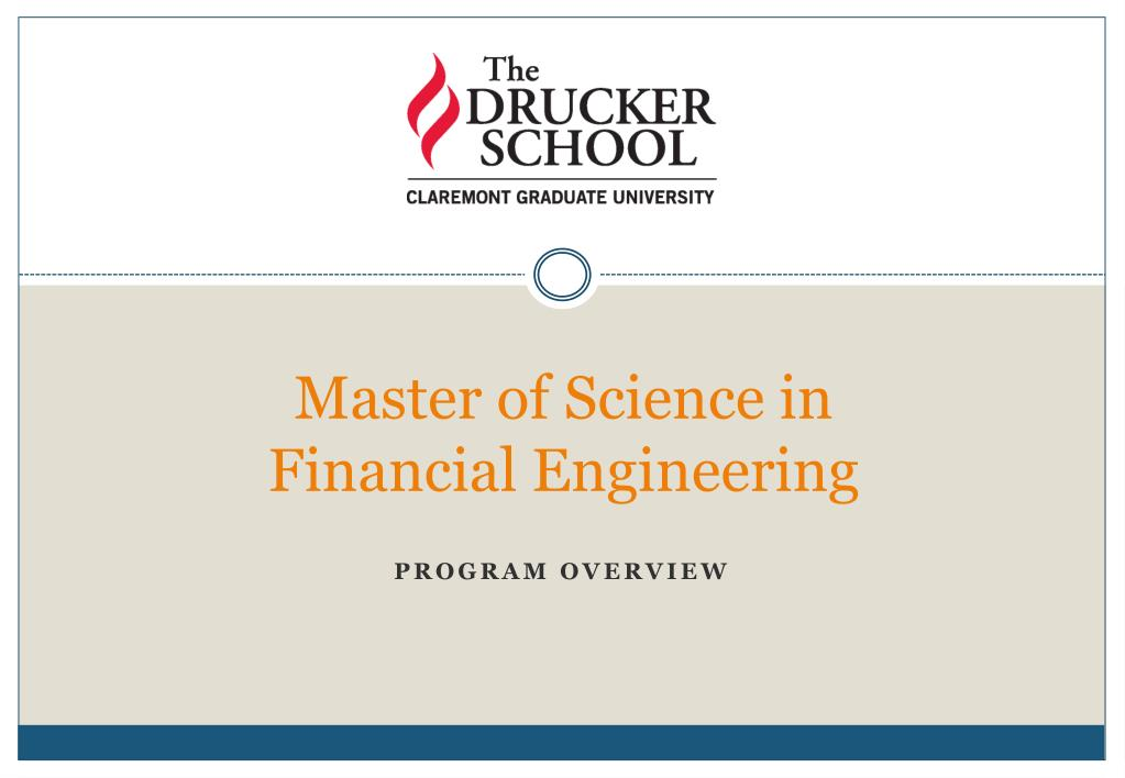 master of science in financial engineering