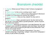 brainstorm checklist