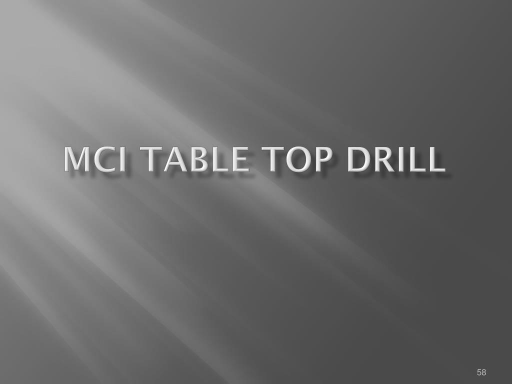 MCI TABLE TOP Drill