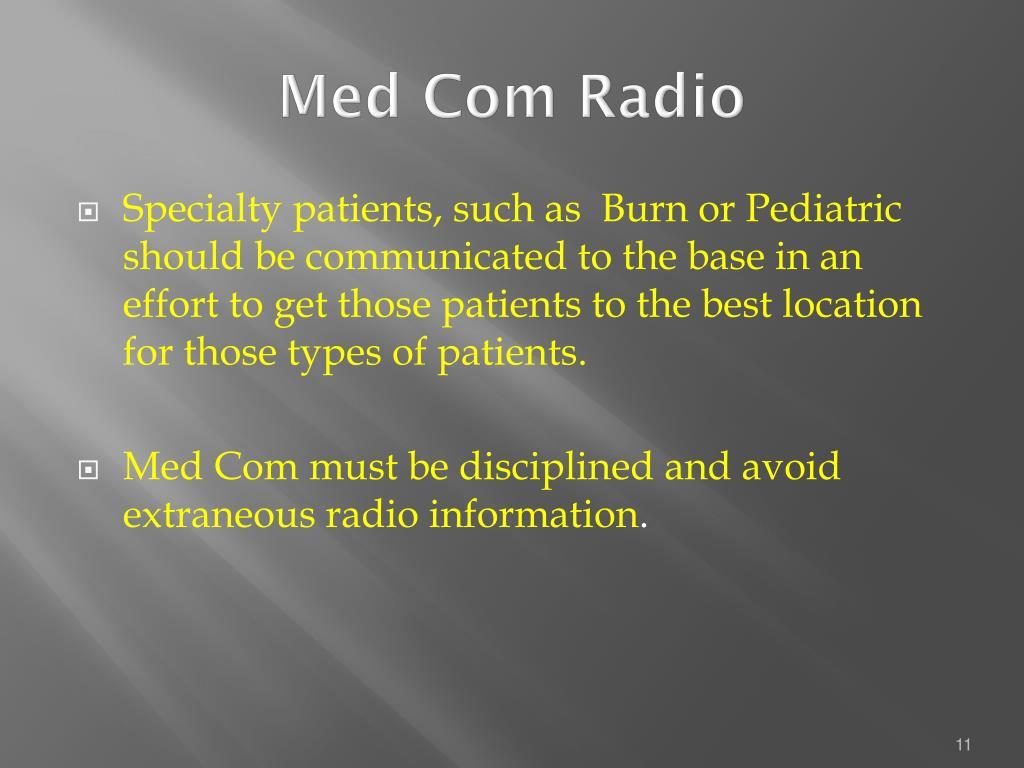 Med Com Radio