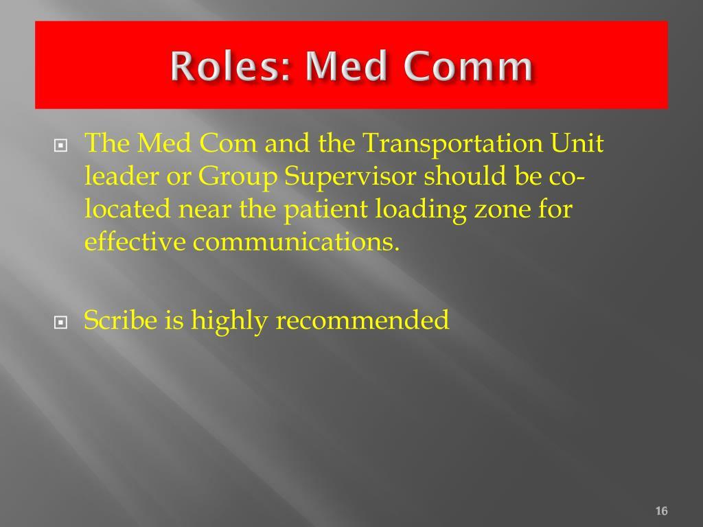 Roles: Med