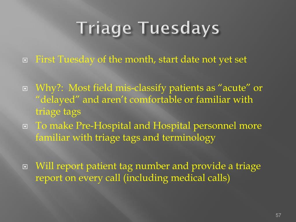 Triage Tuesdays