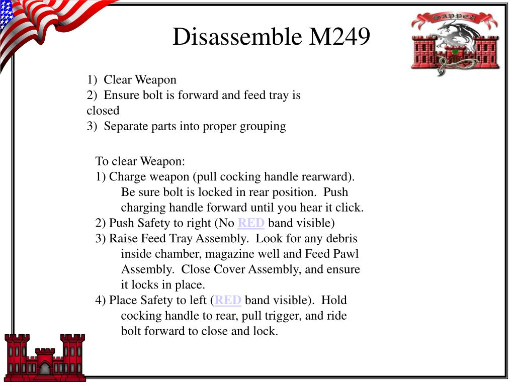 Disassemble M249