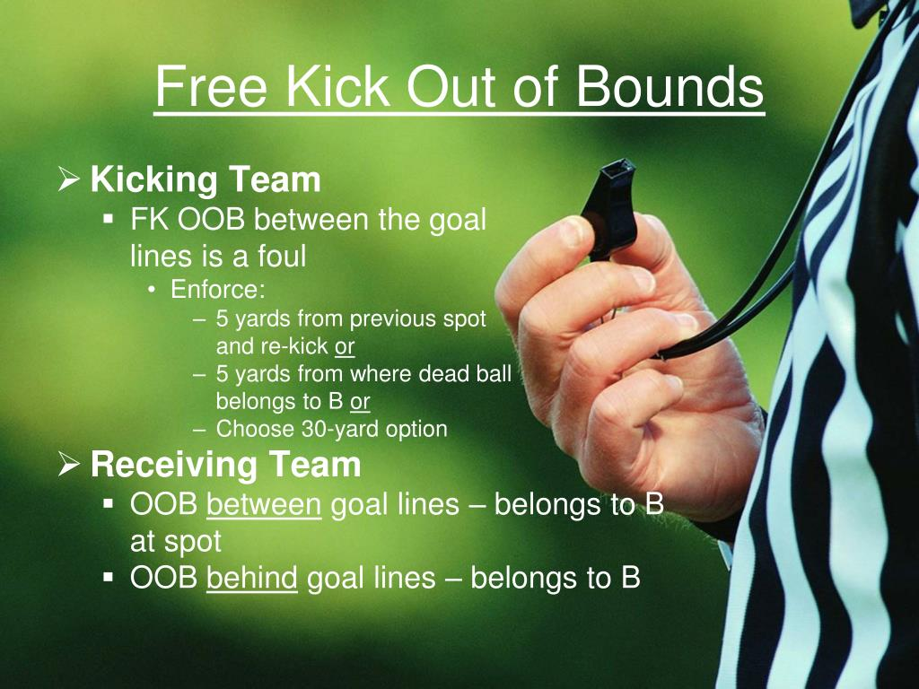 Free Kick Out of Bounds