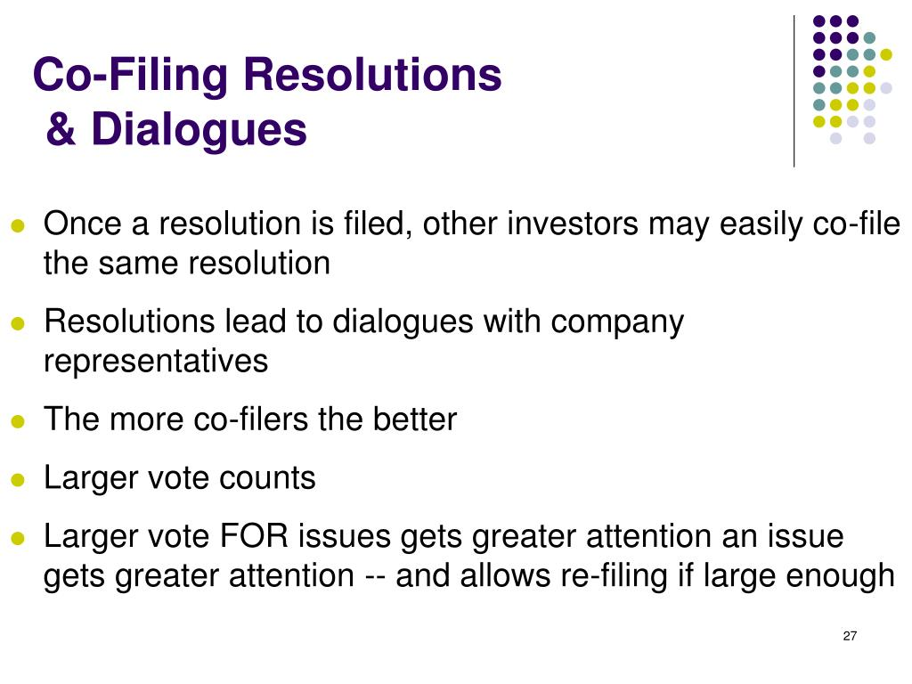 Co-Filing Resolutions