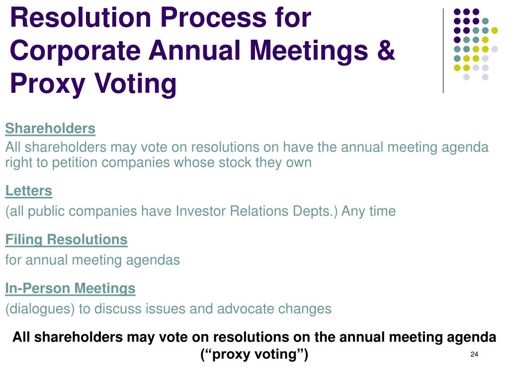Resolution Process for