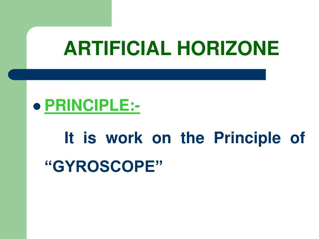 ARTIFICIAL HORIZONE