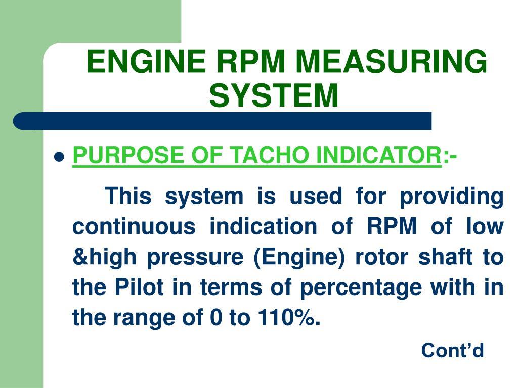 ENGINE RPM MEASURING SYSTEM
