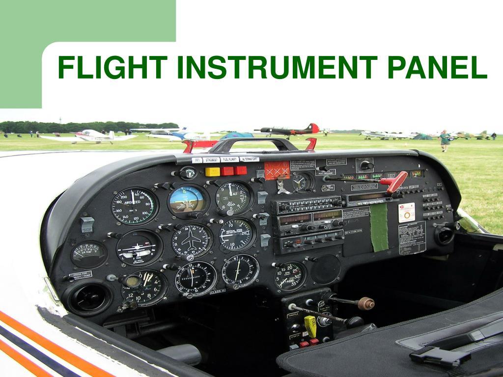 FLIGHT INSTRUMENT PANEL