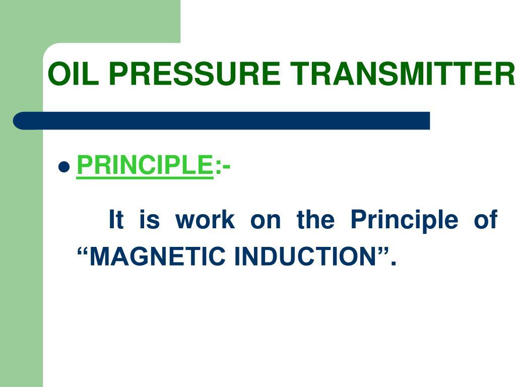OIL PRESSURE TRANSMITTER