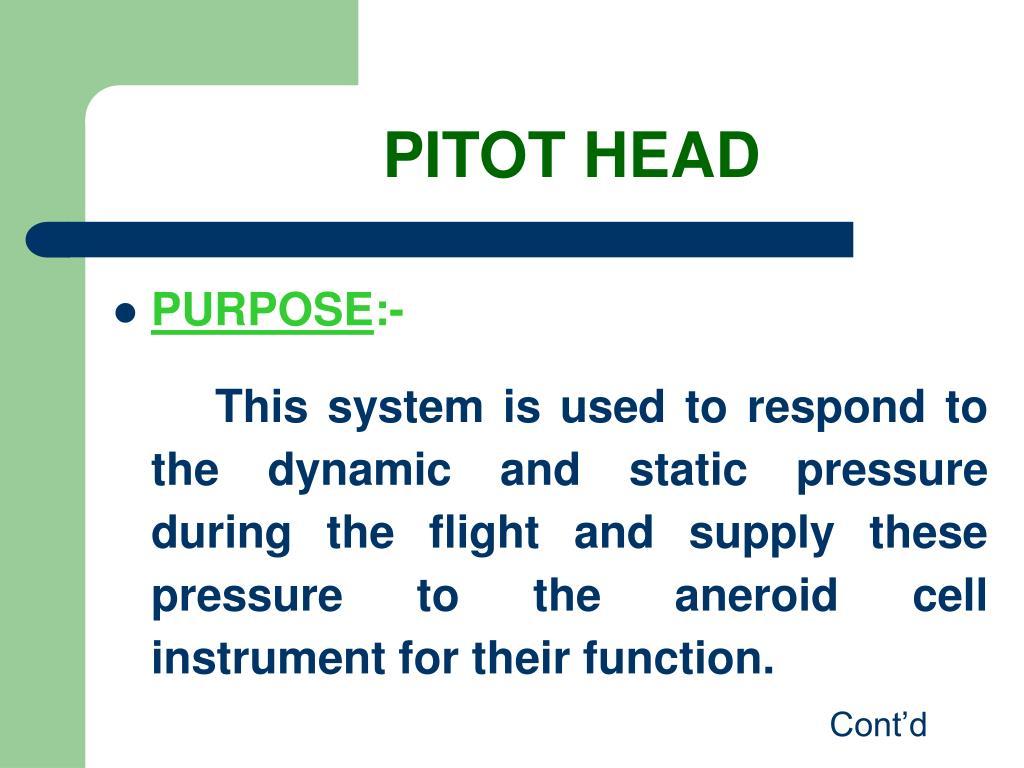PITOT HEAD