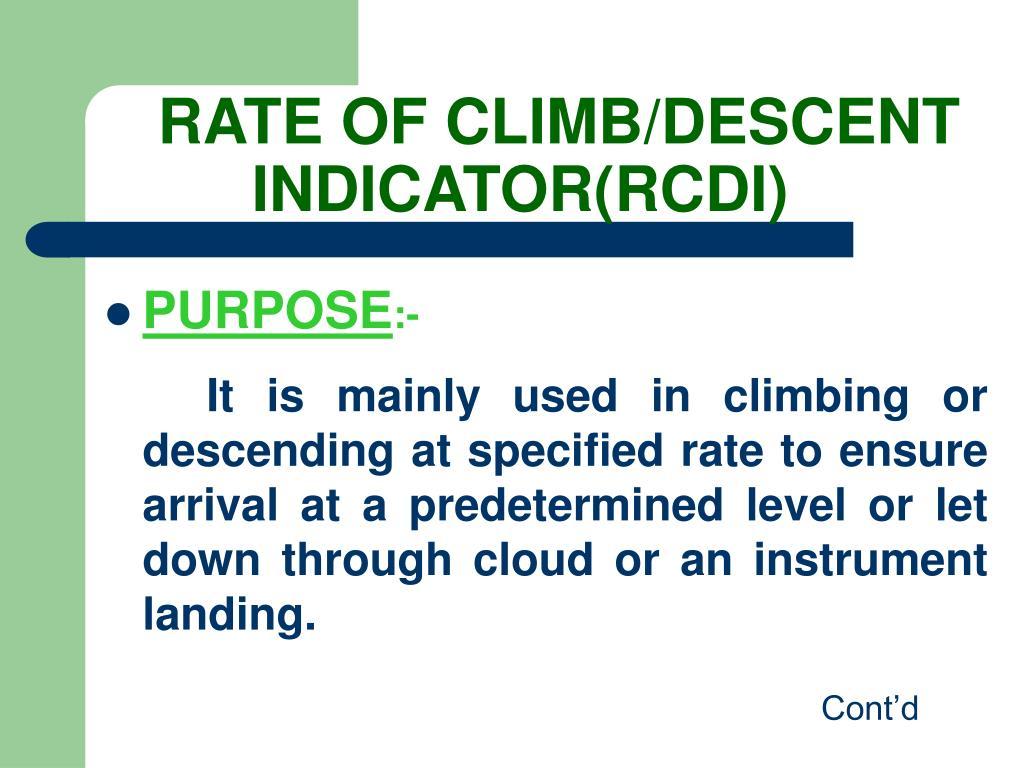 RATE OF CLIMB/DESCENT