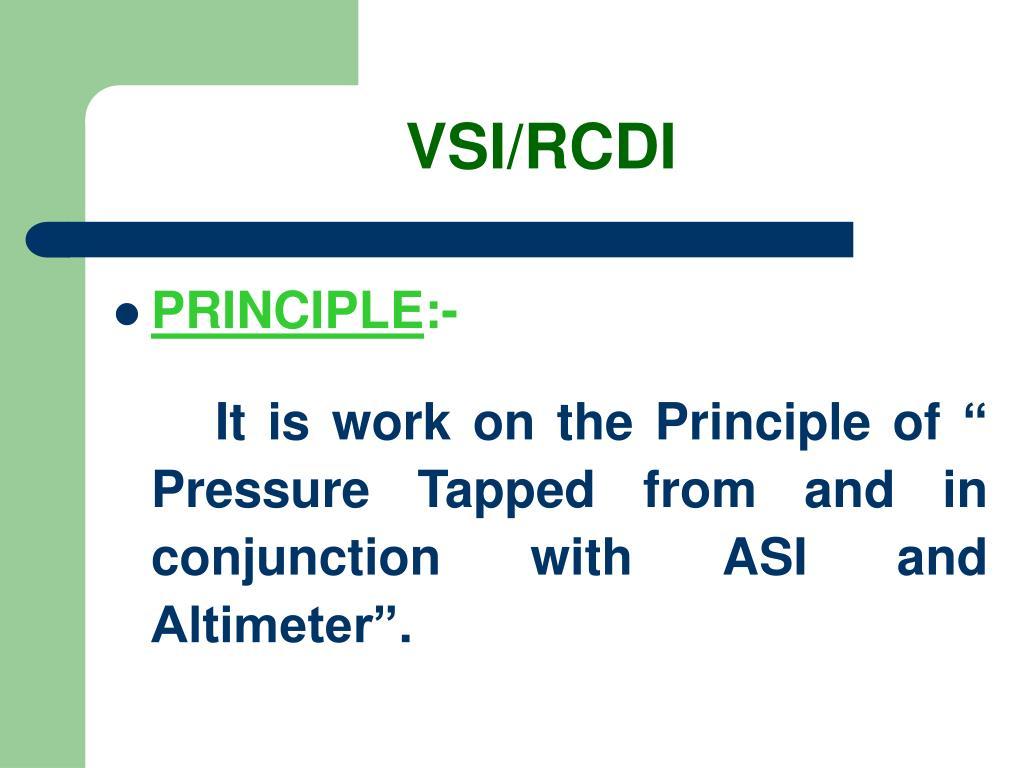 VSI/RCDI