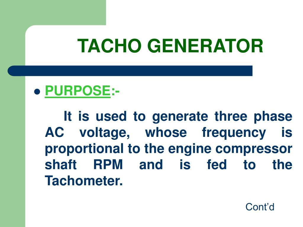 TACHO GENERATOR