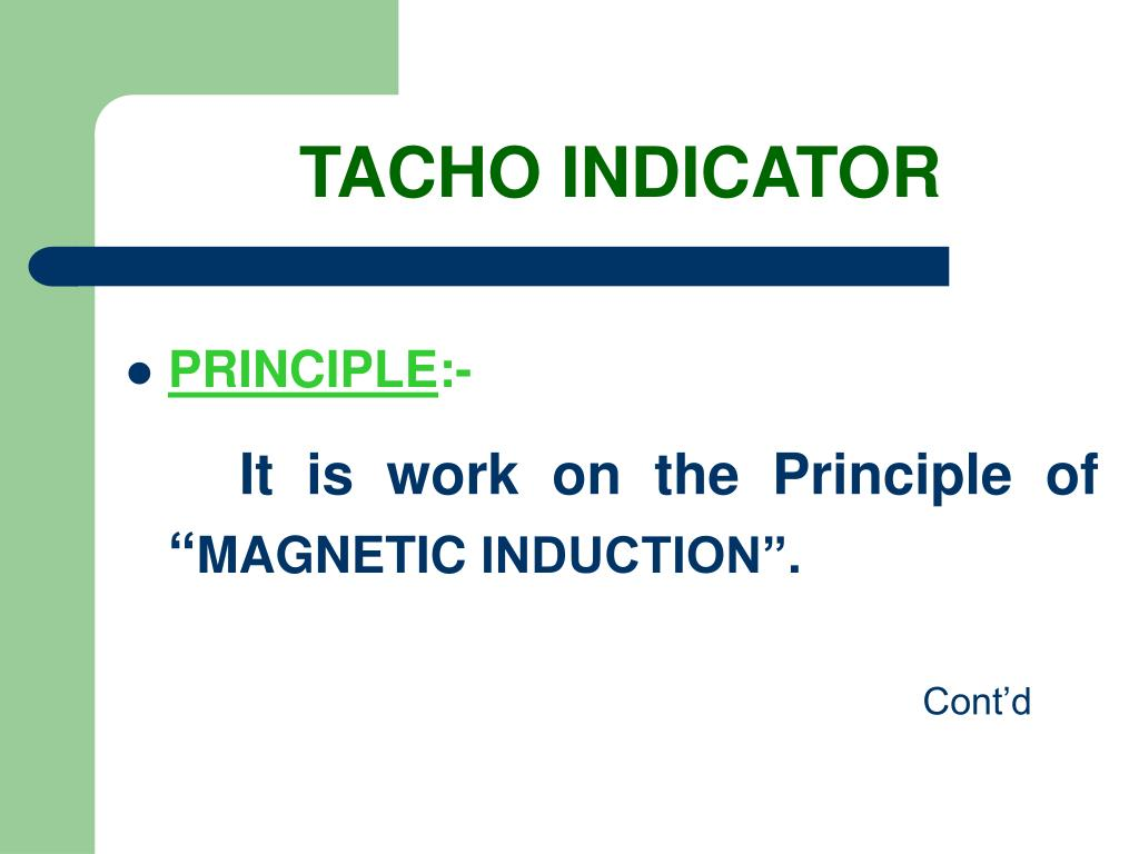 TACHO INDICATOR