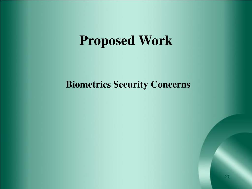 Biometrics Security Concerns