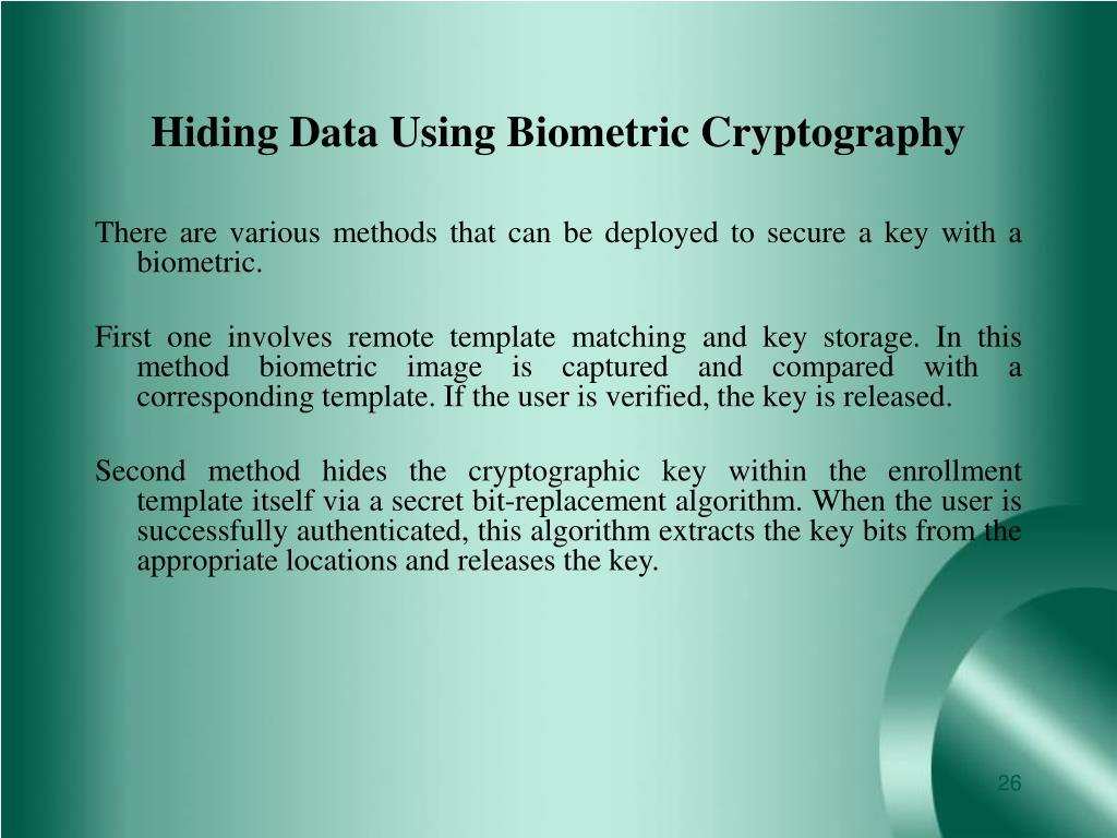 Hiding Data Using Biometric Cryptography