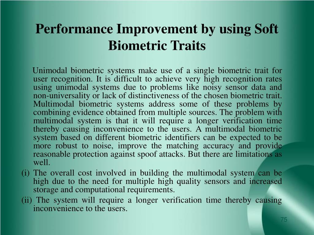 Performance Improvement by using Soft Biometric Traits