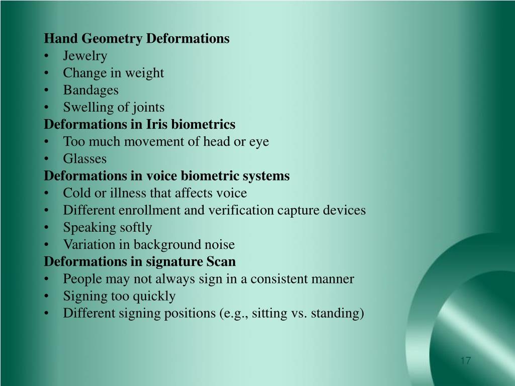 Hand Geometry Deformations