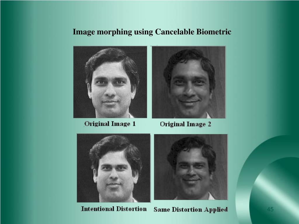 Image morphing using Cancelable Biometric