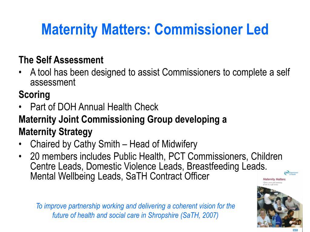 Maternity Matters: C