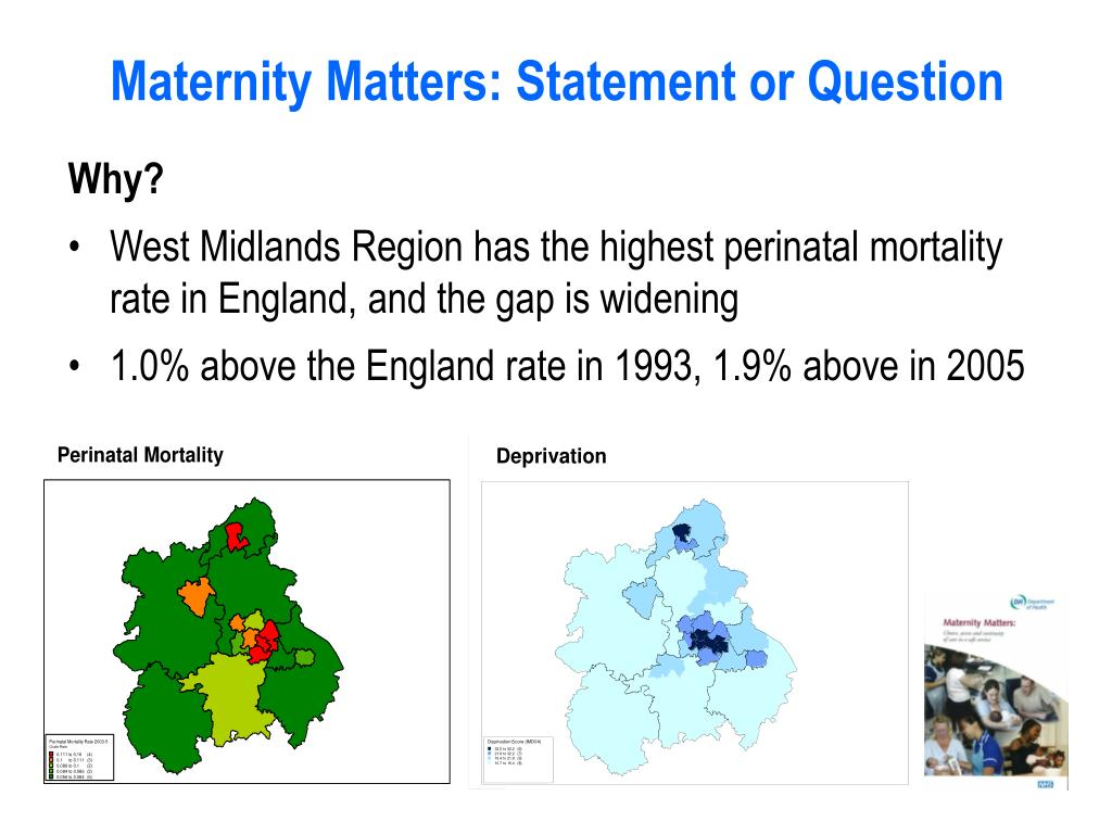 Maternity Matters: Statement or Question