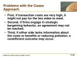problems with the coase approach