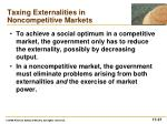 taxing externalities in noncompetitive markets1