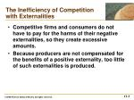 the inefficiency of competition with externalities