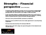 strengths financial perspective source world bank