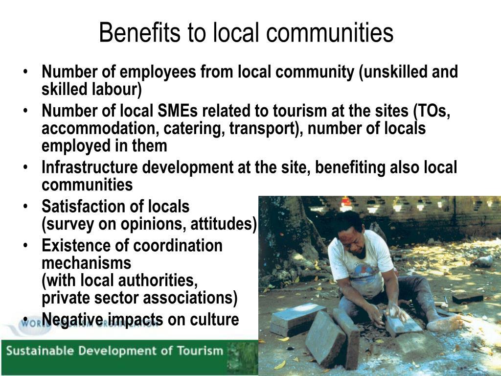 Benefits to local communities