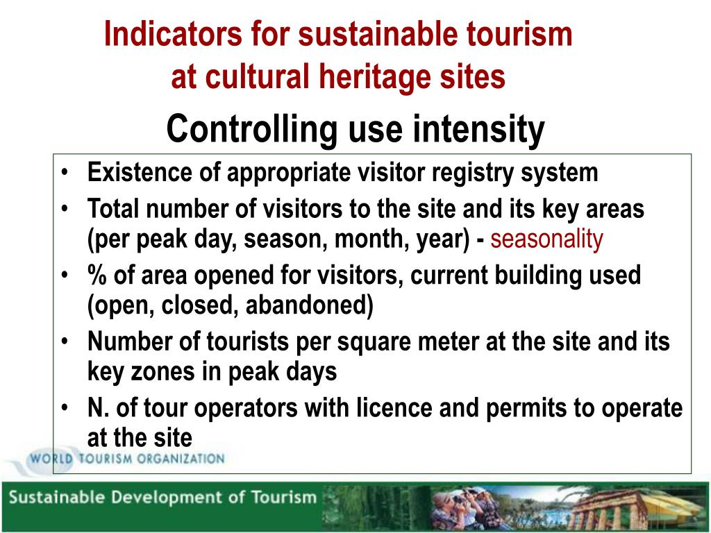 Indicators for sustainable tourism