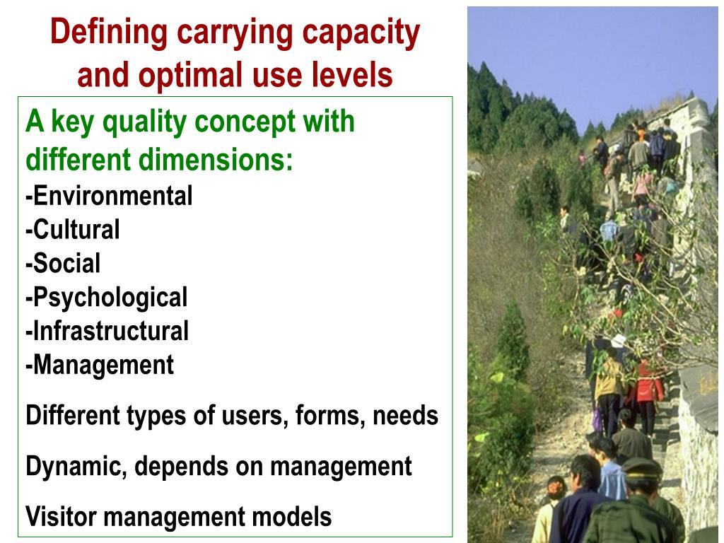 Defining carrying capacity