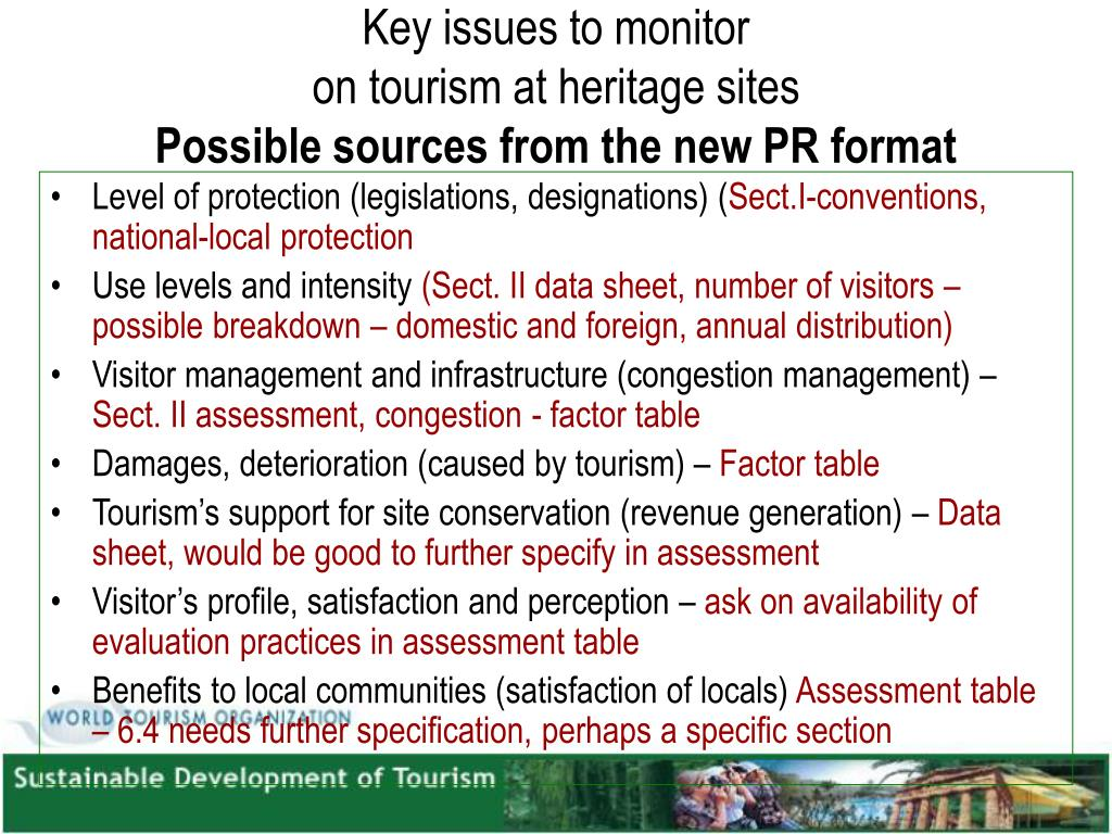 Key issues to monitor