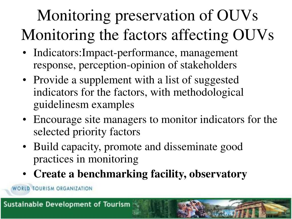 Monitoring preservation of OUVs