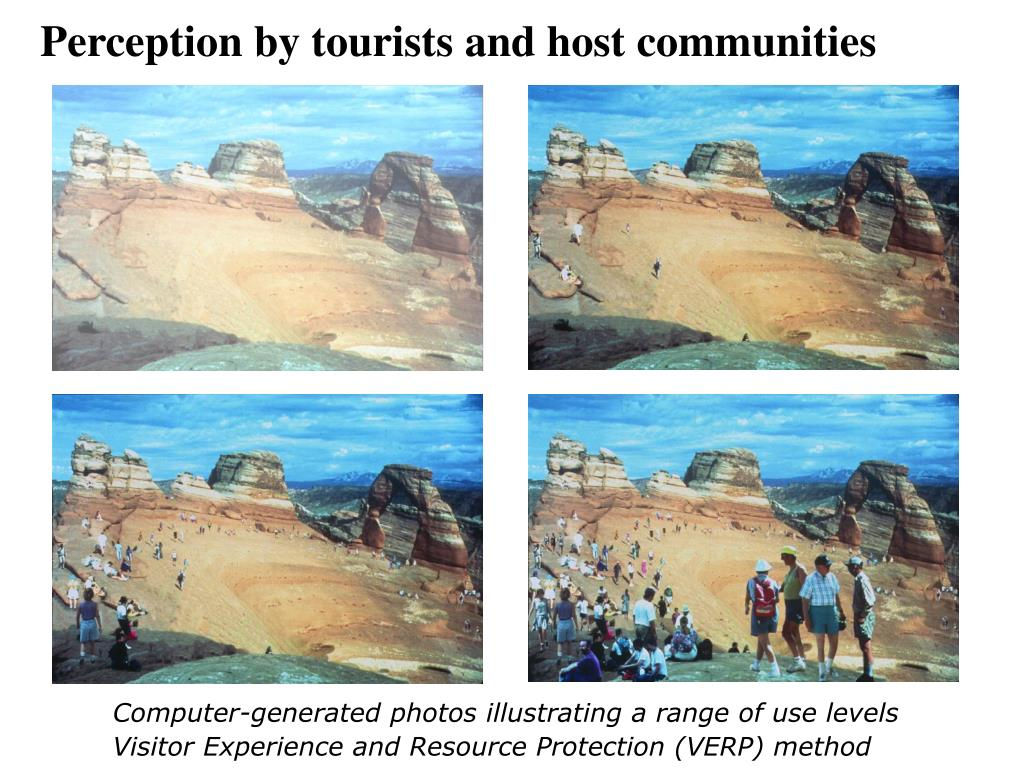 Perception by tourists and host communities