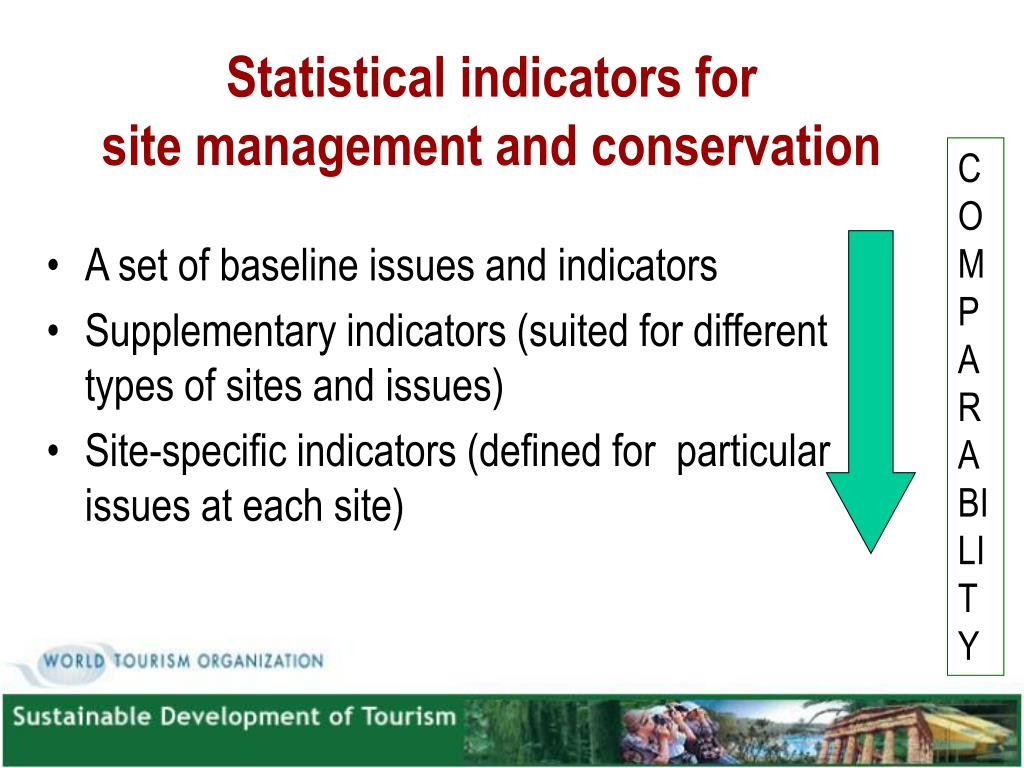 Statistical indicators for