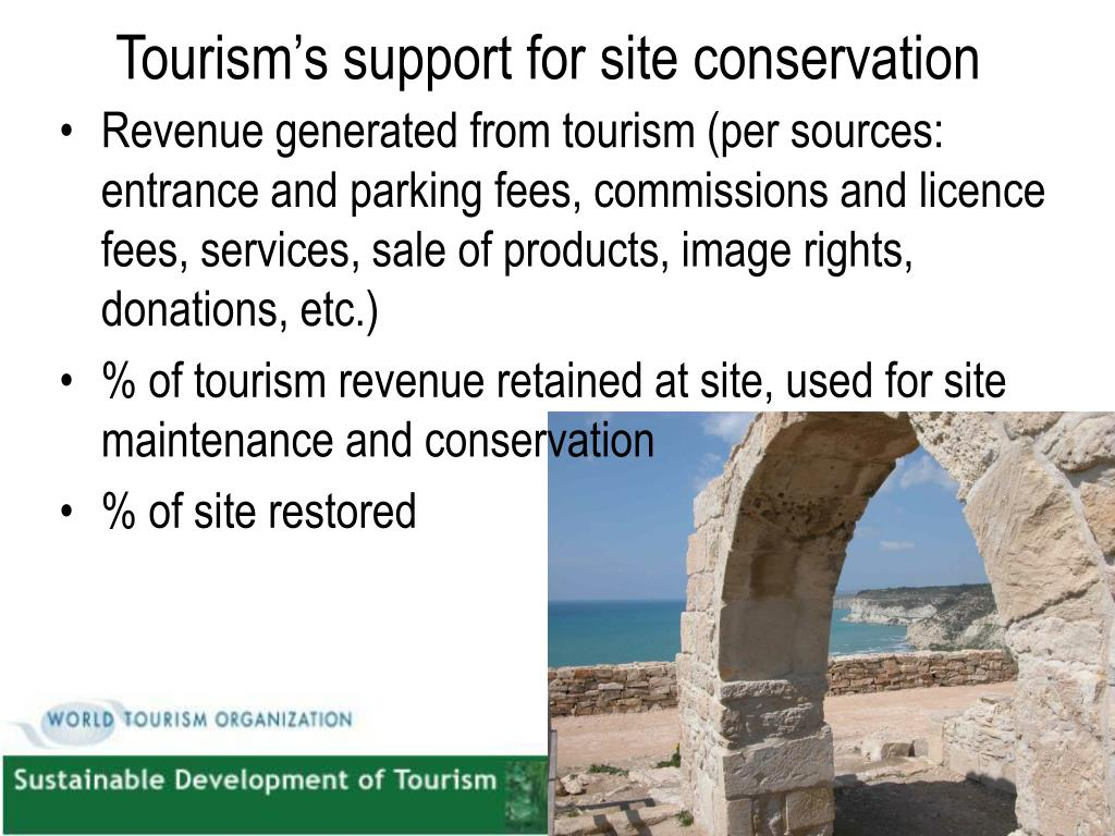 Tourism's support for site conservation