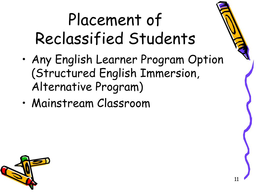 Placement of Reclassified Students