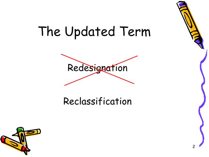 The updated term