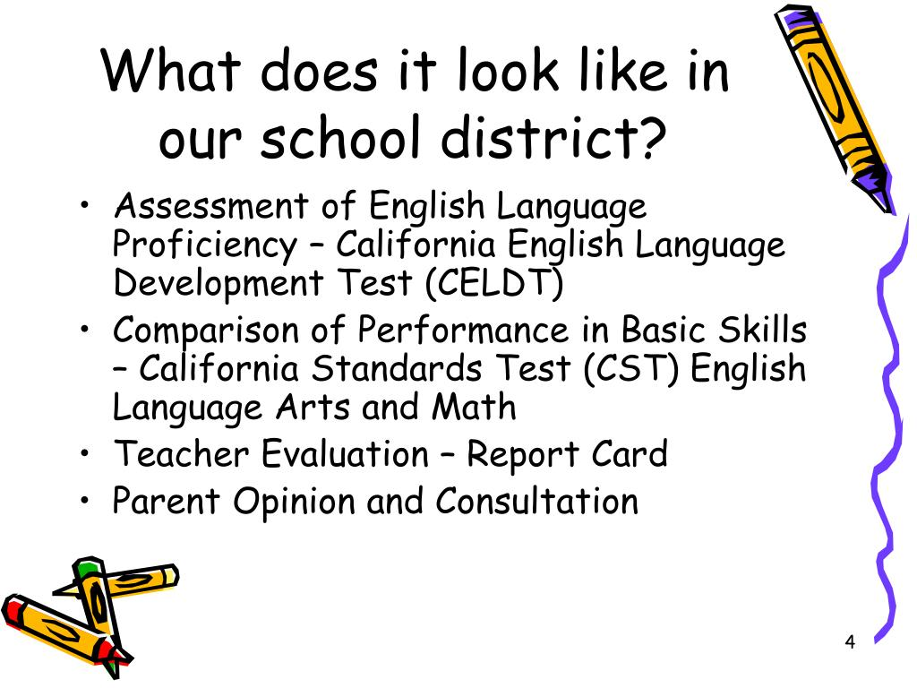 What does it look like in our school district?